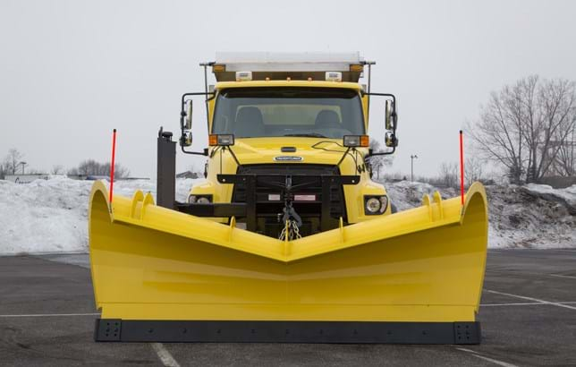 A Freightliner 114SD CNG snow plow.