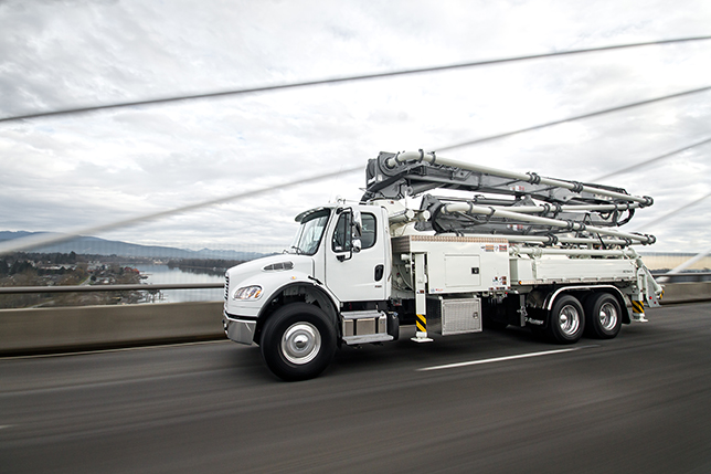 Alliance Concrete uses this Freightliner M2 106 across the United States and Canada
